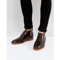 H by hudson matteo leather desert boots in brown - brown