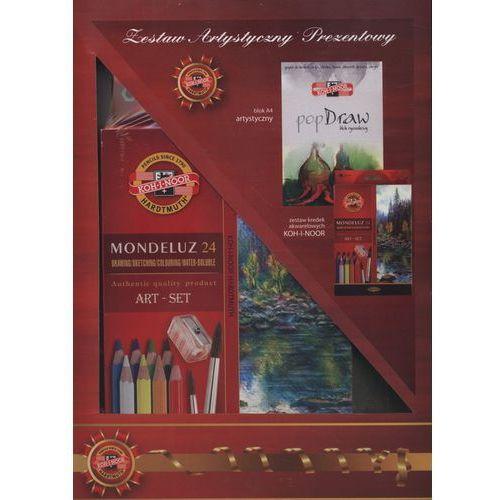 Zestaw artystyczny prezentowy kredki akwarelowe Mondeluz 24 kolory i blok PopDraw, kup u jednego z partnerów