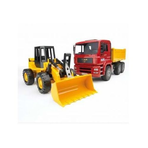 Bruder MAN TGA Construction truck with articulated road loader