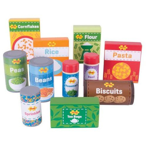 Zestaw żywności do zabawy w sklep dla dzieci - 11 elementów