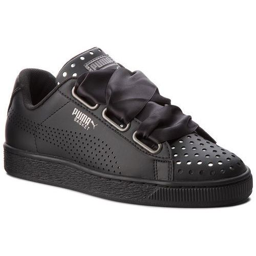 Sneakersy - basket heart ath lux wn's 366728 03 puma black/puma black marki Puma