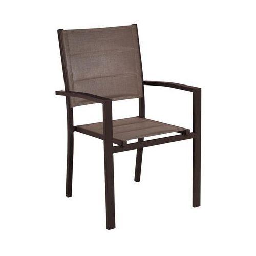 Naterial Fotel ogrodowy aluminiowy brązowy niagara