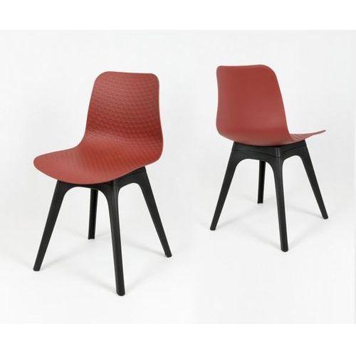 Sk design kr061 ceglaste krzesło polipropylenowe - czarny ||ceglasty