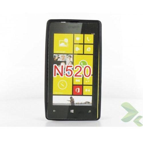 Geffy - Etui Nokia Lumia 520 TPU solid color black, GF-NL520421610