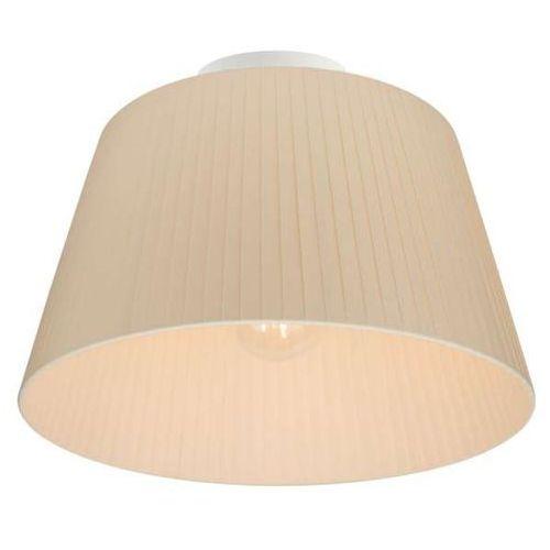 Natynkowa LAMPA sufitowa KAMI ELEMENTARY M CP 1/C/ECRU Sotto Luce abażurowa OPRAWA plafon ecru, KAMI ELEMENT M CP 1/C/ECRU