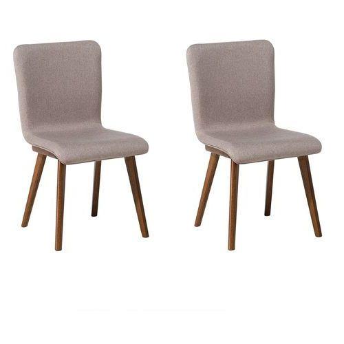Zestaw do jadalni 2 krzesła szare IRIS