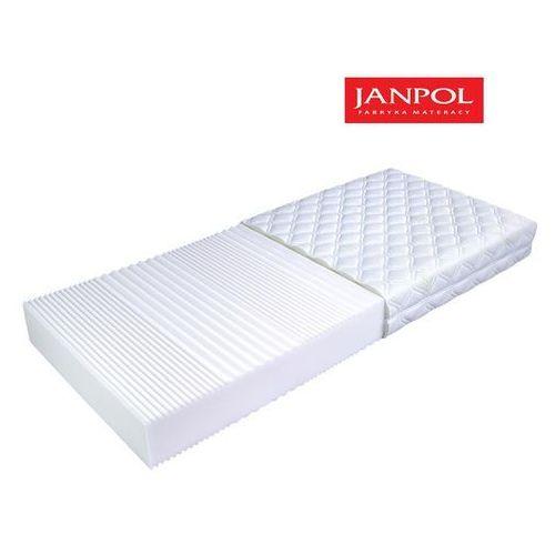 Janpol flora - materac piankowy, rozmiar - 140x190, pokrowiec - jersey standard wyprzedaż, wysyłka gratis marki Materace janpol