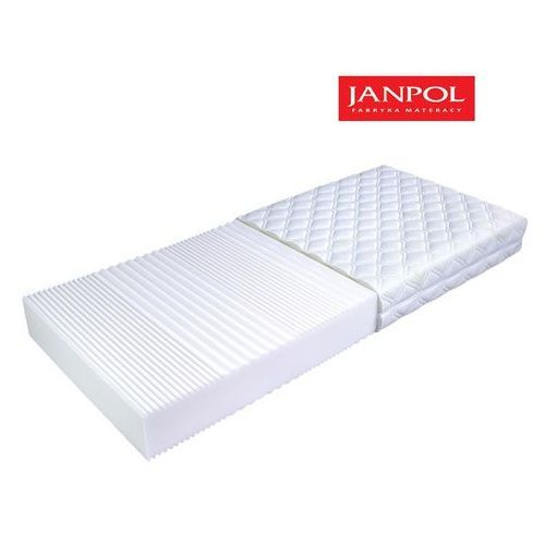 Materace janpol Janpol flora - materac piankowy, rozmiar - 200x200, pokrowiec - jersey standard wyprzedaż, wysyłka gratis