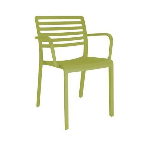 Resol Krzesło kawiarniane z tworzywa sztucznego lama z podłokietnikami