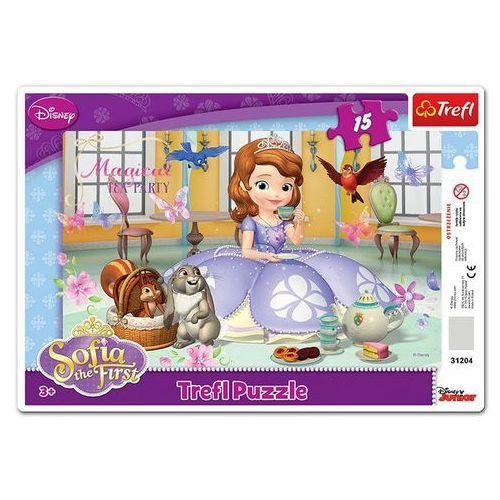 Trefl Puzzle 15 ramkowe jej wysokosc zosia podwieczorek u zosi (5900511312041)