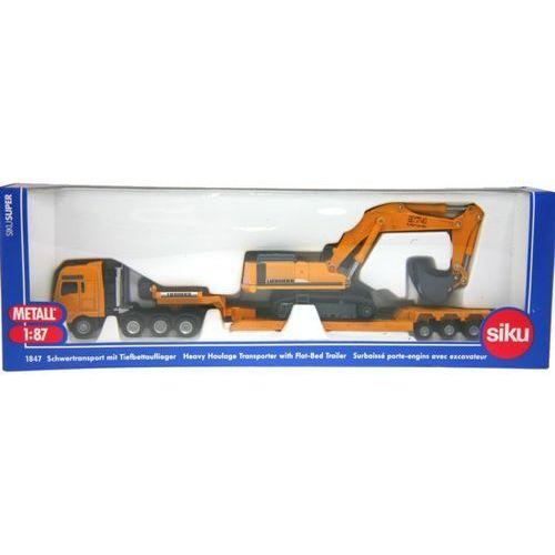 Siku siku ciężarówka z platfo rmą + koparka (4006874018475)