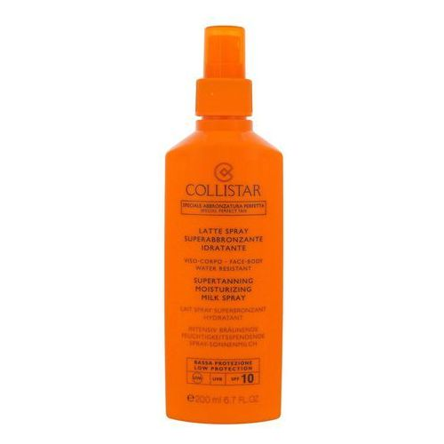 Collistar sun protection mleczko do opalania w sprayu spf 10 (supertanning moisturizing milk spray) 200 ml