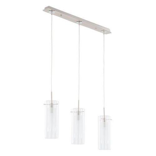 LAMPA wisząca TERNI MD0118F-3 Italux szklana OPRAWA zwis LISTWA sufitowa tuby białe przezroczyste, MD0118F-3