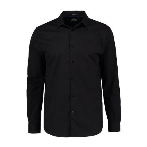 Superdry SLIM FIT Koszula black, bawełna