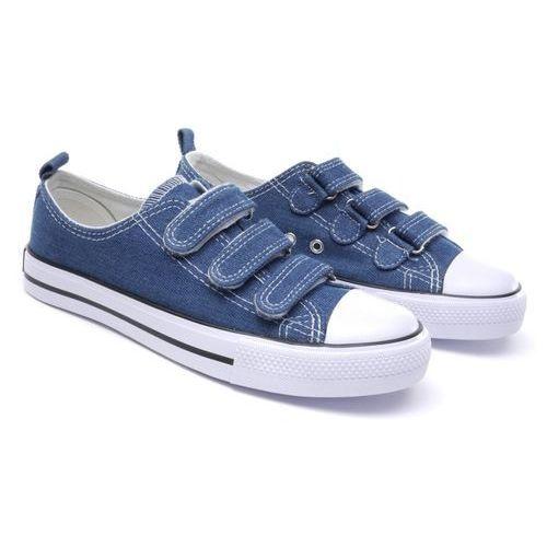 American club Półtrampki dziecięce  lh-17-dstc-jeans-03/04 niebieski 04 36 niebieski