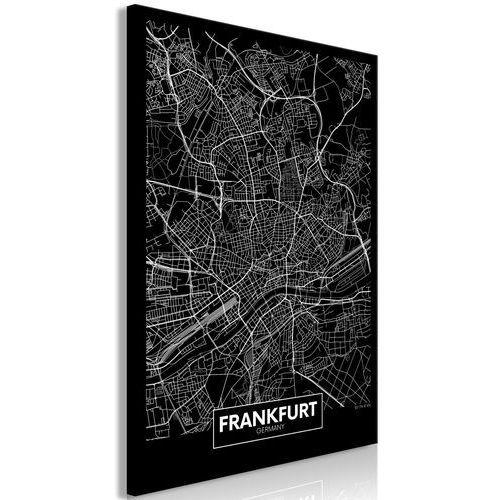 Obraz - ciemna mapa frankfurtu (1-częściowy) pionowy marki Artgeist