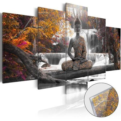 Artgeist Obraz na szkle akrylowym - jesienny budda [glass]