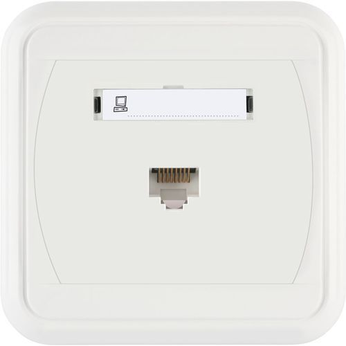 Gniazdo komputerowe pojedyncze białe LIZA