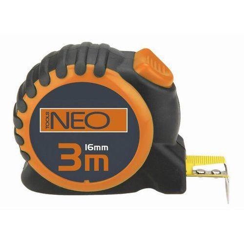 NEO Miara zwijana stalowa 3 m x 16 mm. blokada selflock 67-163 z kategorii Miary i taśmy