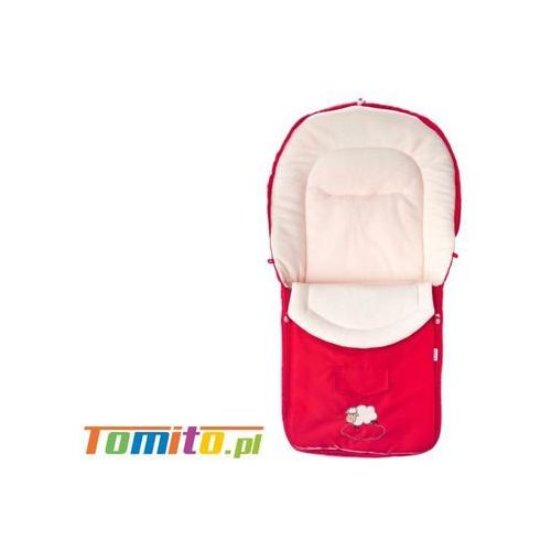 Śpiworek do wózka kombinezon zimowy polarowy red marki Caretero