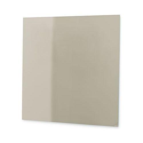 Tablica suchościeralna mood, szkło, magnetyczna, 500x500 mm, szary marki Aj produkty