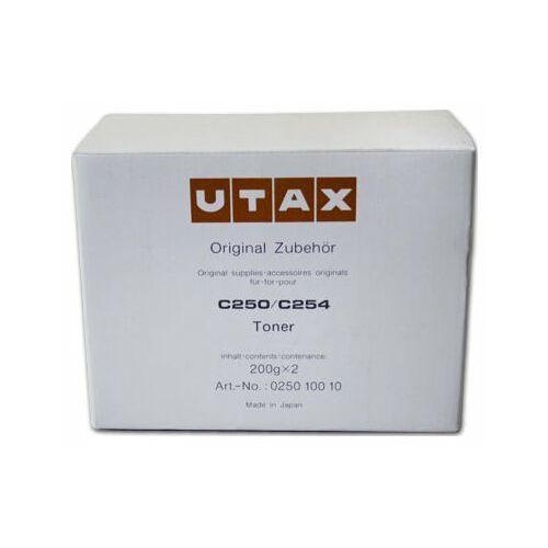 Utax Wyprzedaż oryginał toner 025010010 do c-250 c-252 c-254 | 1250 str. (2x200g) | czarny black