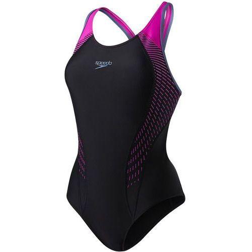 Speedo fit laneback strój kąpielowy kobiety różowy/czarny de 38 / it 34 2018 stroje kąpielowe