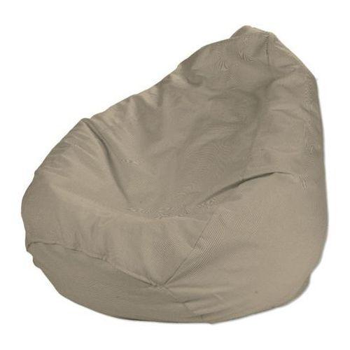 Dekoria  pokrowiec na worek do siedzenia, beżowa pepitka, pokrowiec Ø60x105cm, living