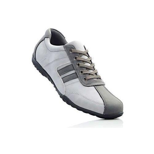Sneakersy bonprix jasnoszaro-szary