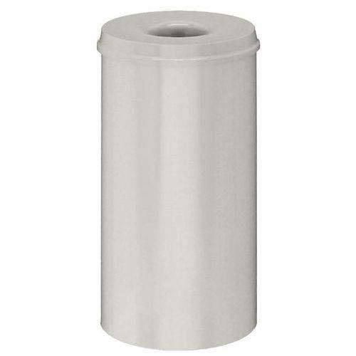 Vepa bins Kosz na papier, samogaszący, poj. 50 l, korpus biały / głowica gasząca biała. pr
