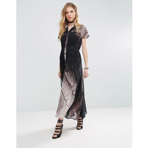 Religion Succession Tie Waist Maxi Dress - Black, kolor czarny