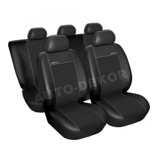 Skórzane pokrowce samochodowe miarowe premium czarne audi a4 b6 sedan/kombi 2000-2004 marki Auto-dekor