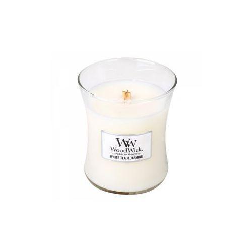 Woodwick - świeca mała white tea & jasmine 40h