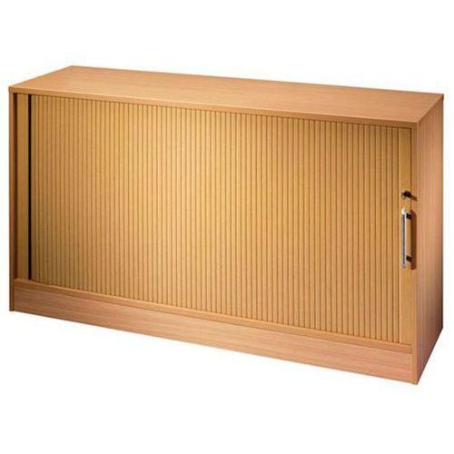 Szafa z poprzecznymi roletami, po 1 półce, 1 ścianka działowa, imitacja drewna b
