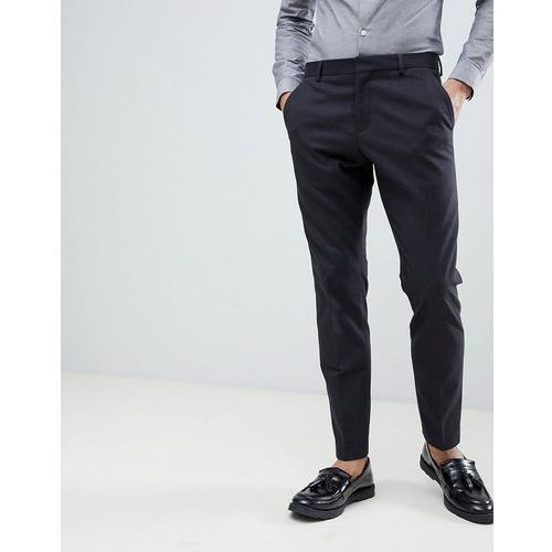 Selected Homme Suit Trouser In Slim Fit With Micro Grid Detail - Navy