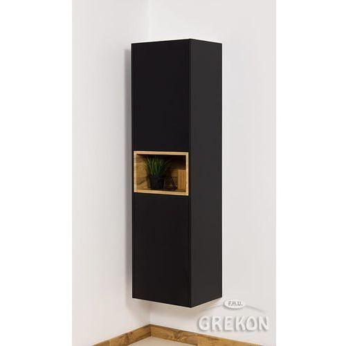 Czarny matowy słupek łazienkowy wiszący Space Gante, kolor czarny