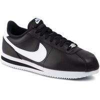 Buty NIKE - Cortex Basic Leather 819719 012 Black/White/Metallic Silver, kolor czarny