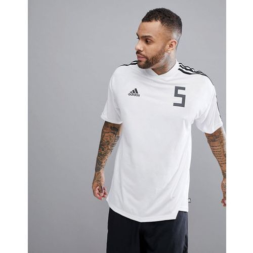 adidas Football Tanip Icon T-Shirt In White CG1801 - White, 1 rozmiar