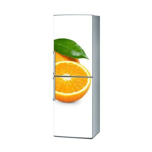 Mata magnetyczna na lodówkę - Pomarańcza na białym tle 4238