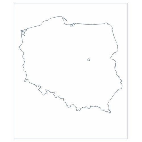 nakładka magnetyczna suchościeralna mapa Polski konturowa 02