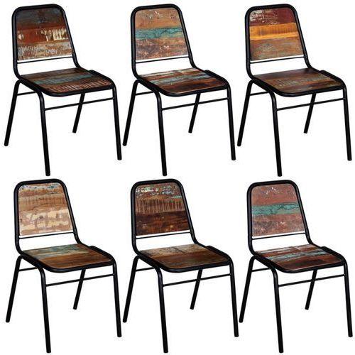 vidaXL Krzesła z litego drewna odzyskanego, 6 szt, 44 x 59 89 cm (8718475559825)