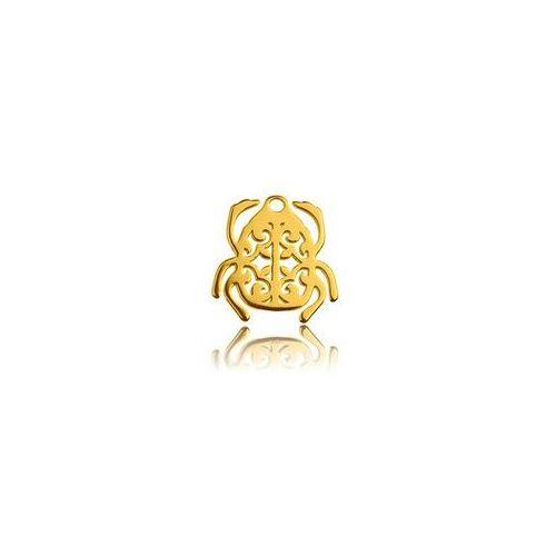 Zawieszka ażurowa skarabeusz, złoto próba 585 marki 925.pl