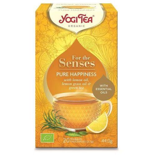 Herbatka dla zmysłów szczęście bio (20 x 2,2 g) 44 g - yogi tea marki Yogi tea dystrybutor: bio planet s.a., wilkowa wieś 7, 05-084 leszno k