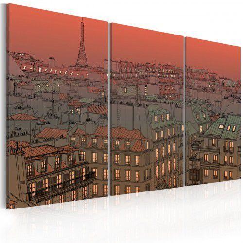 Obraz - Paryska Wieża Eiffla na tle zachodzącego słońca