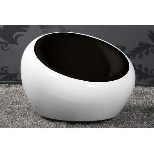 Dkwadrat Fotel tappo k- biały, s- czarne