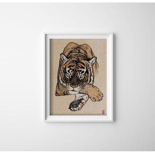 Plakaty w stylu retro Plakatyw stylu retro Tygrys autorstwa Yoshidy Toshi