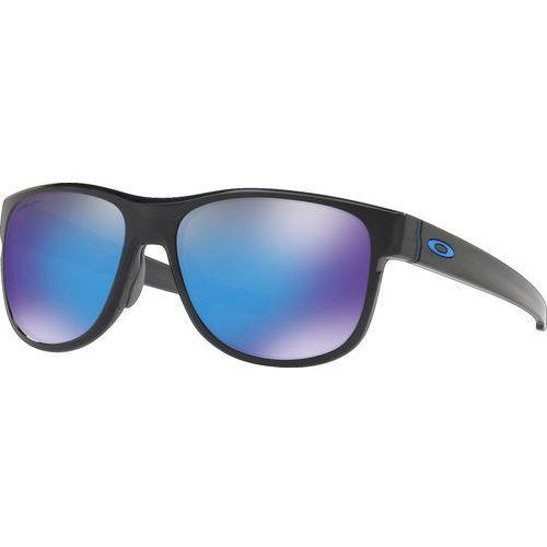 Oakley crossrange r okulary rowerowe niebieski/czarny 2018 okulary przeciwsłoneczne (0888392294227)