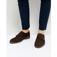 Dune Monk Shoes In Brown Suede - Brown