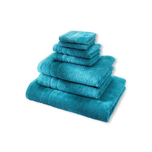 """Komplet ręczników """"deluxe"""" (7 części) niebieskozielony morski marki Bonprix"""
