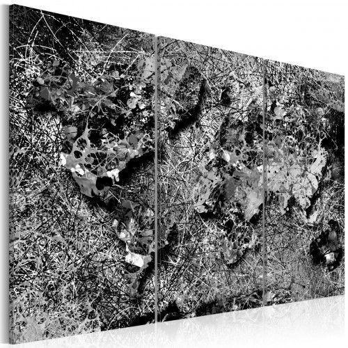 Obraz - Mapa świata: Szara nić